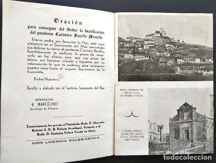 Libros de segunda mano: CASIMIRO BARELLO MORELLO PEREGRINO PENITENTE TERCIARIO FRANCISCANO - AMALIO SENTANDREU - ALCOY 1951 - Foto 2 - 168776092