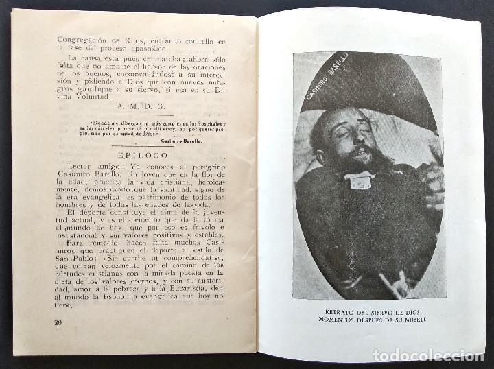 Libros de segunda mano: CASIMIRO BARELLO MORELLO PEREGRINO PENITENTE TERCIARIO FRANCISCANO - AMALIO SENTANDREU - ALCOY 1951 - Foto 3 - 168776092