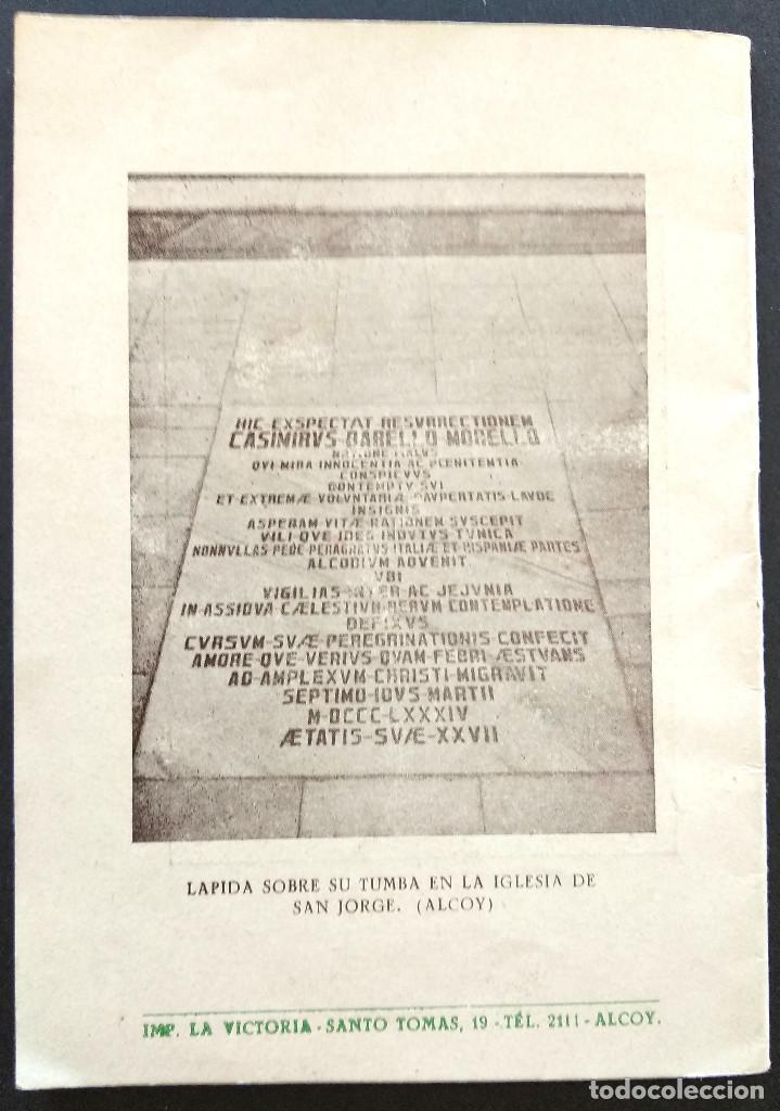 Libros de segunda mano: CASIMIRO BARELLO MORELLO PEREGRINO PENITENTE TERCIARIO FRANCISCANO - AMALIO SENTANDREU - ALCOY 1951 - Foto 5 - 168776092