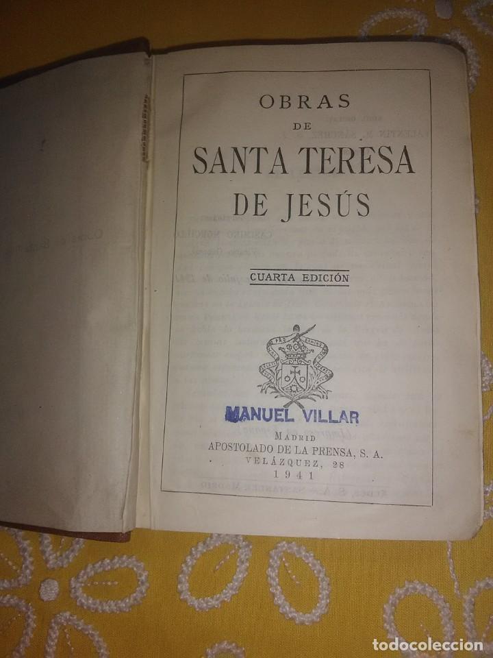 Libros de segunda mano: Obras de Santa Teresa de Jesús. Apostolado de la Prensa. 1941. 4 Ed. - Foto 2 - 168978336