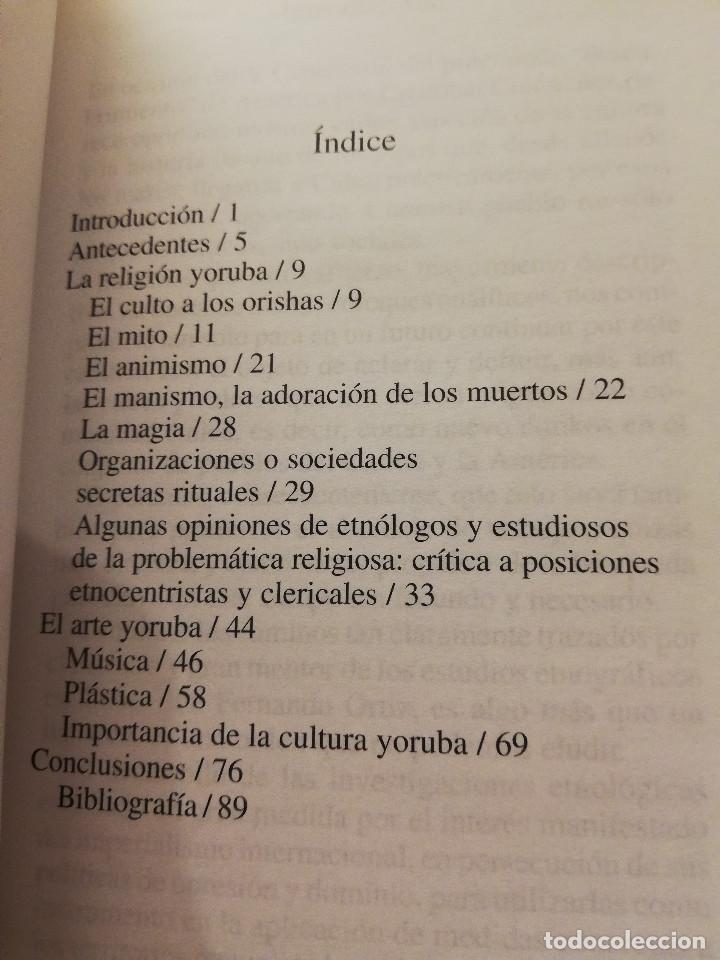 Libros de segunda mano: RELIGIÓN Y ARTE YORUBAS (PEDRO PABLO AGUILERA PATTON) EDITORIAL DE CIENCIAS SOCIALES, LA HABANA - Foto 3 - 169082636