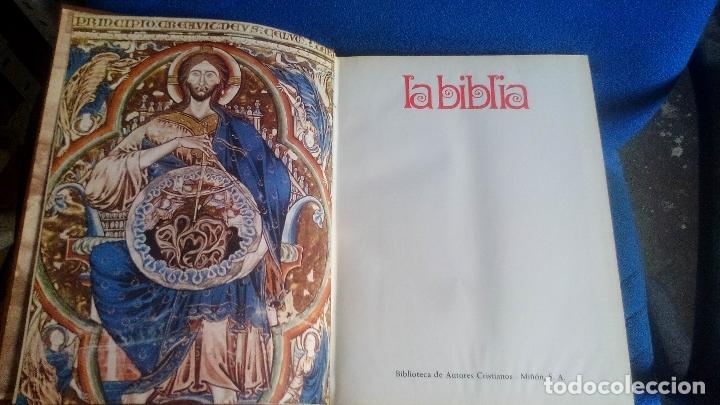 Libros de segunda mano: La respuesta está en La Biblia (6 TOMOS - COMPLETA) por Editorial Miñón y BAC en Madrid, AÑO 1970 - Foto 4 - 169216224