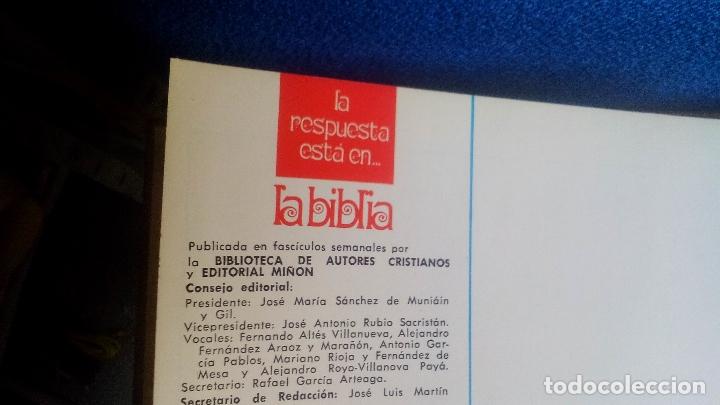 Libros de segunda mano: La respuesta está en La Biblia (6 TOMOS - COMPLETA) por Editorial Miñón y BAC en Madrid, AÑO 1970 - Foto 7 - 169216224