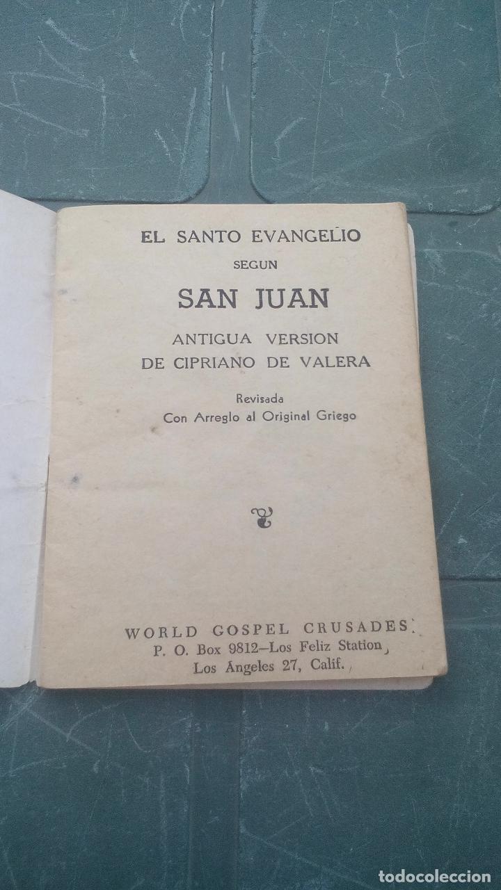 Libros de segunda mano: EL EVANGELIO DE NUESTRO SEÑOR JESUCRISTO SEGUN SAN JUAN - 1953 - 64 PAGINAS - Foto 2 - 169598056