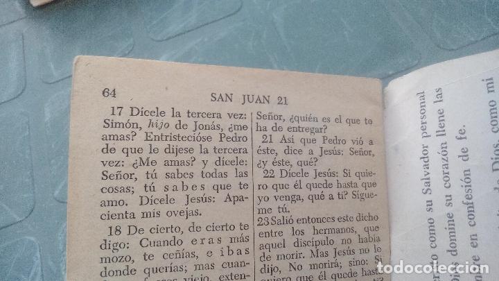 Libros de segunda mano: EL EVANGELIO DE NUESTRO SEÑOR JESUCRISTO SEGUN SAN JUAN - 1953 - 64 PAGINAS - Foto 6 - 169598056