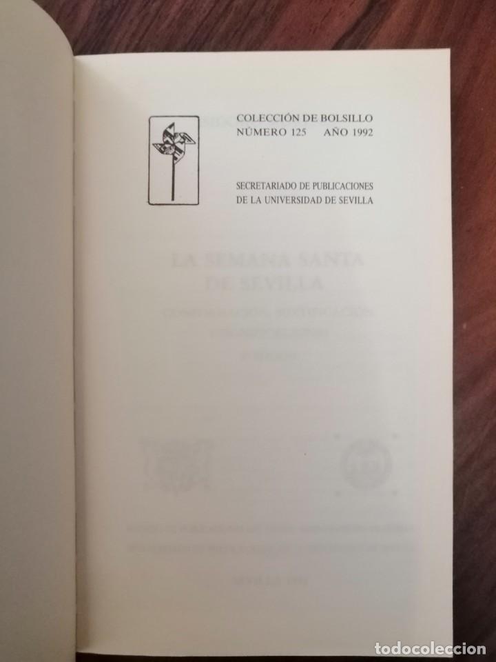 Libros de segunda mano: LA SEMANA SANTA DE SEVILLA . ISIDORO MORENO. 1992 - Foto 4 - 170105240
