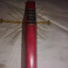 Libros de segunda mano: NUEVAS NORMAS DE LA MISA. ORDENACIÓN G. DEL MISAL ROMANO. BAC MINOR, N 9. 1969. 2 ED.. Lote 170229044