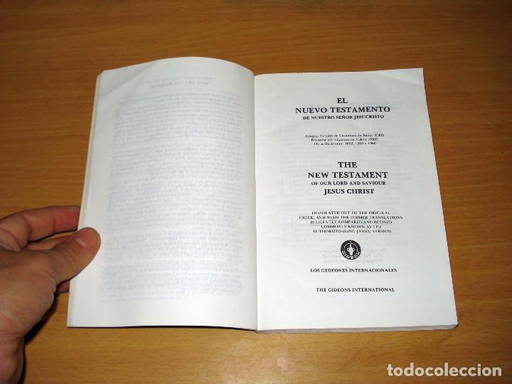 Libros de segunda mano: NUEVO TESTAMENTO ESPAÑOL E INGLÉS (ED. LOS GEDEONES INTERNACIONALES) AÑO: 1960 - Foto 3 - 170260200