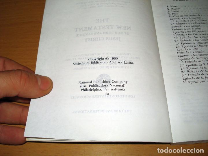 Libros de segunda mano: NUEVO TESTAMENTO ESPAÑOL E INGLÉS (ED. LOS GEDEONES INTERNACIONALES) AÑO: 1960 - Foto 4 - 170260200