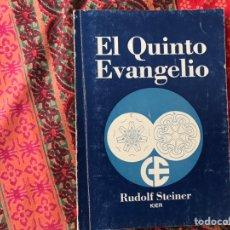Libros de segunda mano: EL QUINTO EVANGELIO. RUDOLF STEINER. Lote 170267556