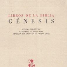 Libros de segunda mano: GENESIS. VERSIÓN DE CASIODORO DE REINA (1569), REVISADA POR CIPRIANO DE VALERA (1602). TURNER, 1990. Lote 171112248