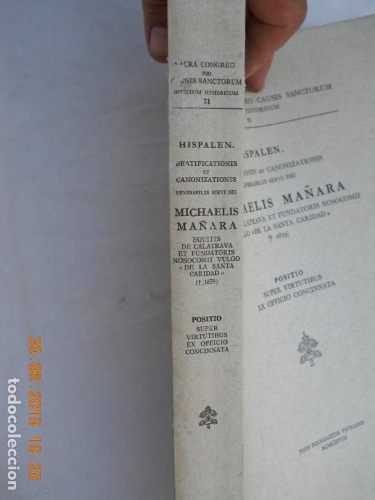 Libros de segunda mano: MICHAELIS MAÑARA , OFICIO DE CANONIZACION MIGUEL DE MAÑARA HISPALEN Nº 71 EN CASTELLANO - Foto 6 - 171355469
