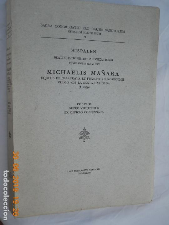 MICHAELIS MAÑARA , OFICIO DE CANONIZACION MIGUEL DE MAÑARA HISPALEN Nº 71 EN CASTELLANO (Libros de Segunda Mano - Religión)