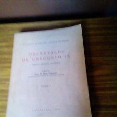 Libros de segunda mano: DECRETALES DE GREGORIO IX. 1940. Lote 171369722