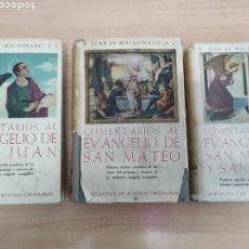 Libros de segunda mano: COMENTARIOS A LOS EVANGELIOS DE SAN JUAN, MATEO, MARCOS Y LUCAS. BAC 1950-1954. Lote 171409734
