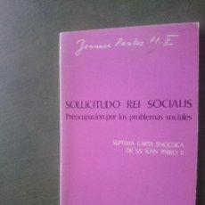 Libros de segunda mano: PROOCUPACION POR LOS PROBLEMAS SOCIALES-JUAN PABLO II. Lote 171546034