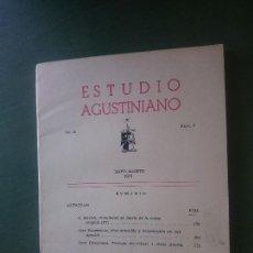Libros de segunda mano: ESTUDIO AGUSTINIANO 1975. Lote 171626520
