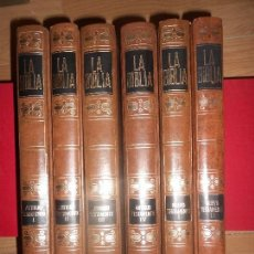 Libros de segunda mano: LA BIBLIA - ANTIGUO TESTAMENTO Y NUEVO TESTAMENTO - COMPLETA / 6 TOMOS - MIÑON. Lote 171686759