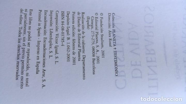 Libros de segunda mano: ITINERARIOS DE VIDA CRISTIANA/ JAVIER ECHEVARRIA/ F305 - Foto 8 - 171693457