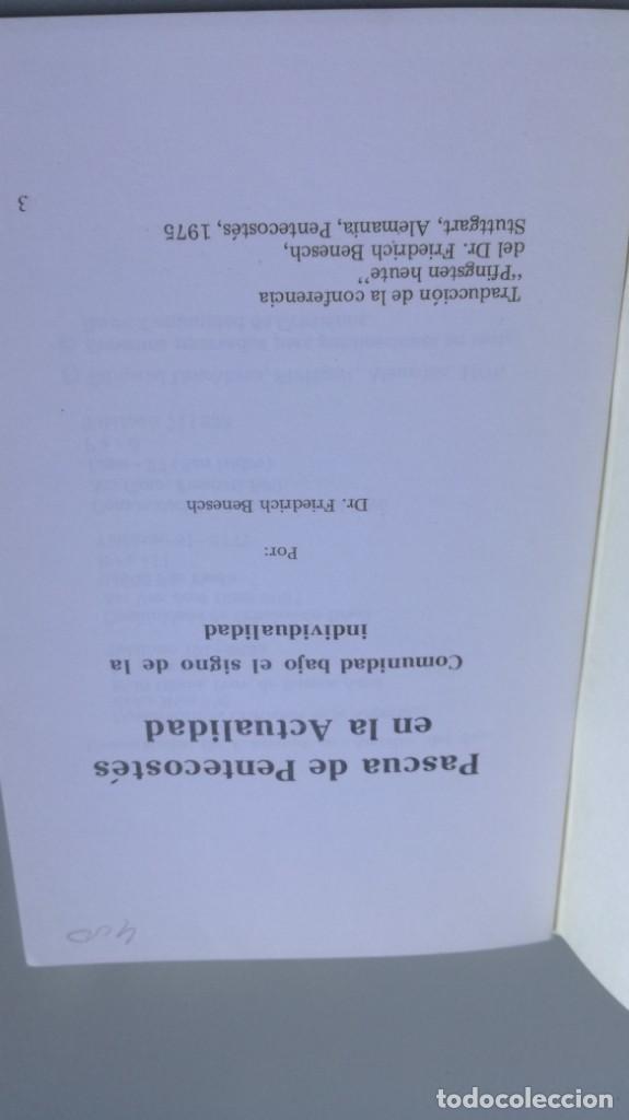 Libros de segunda mano: PASCUA DE PENTECOSTES EN LA ACTUALIDAD/ FIEDRICH BENESCH/ F305 - Foto 4 - 171694017