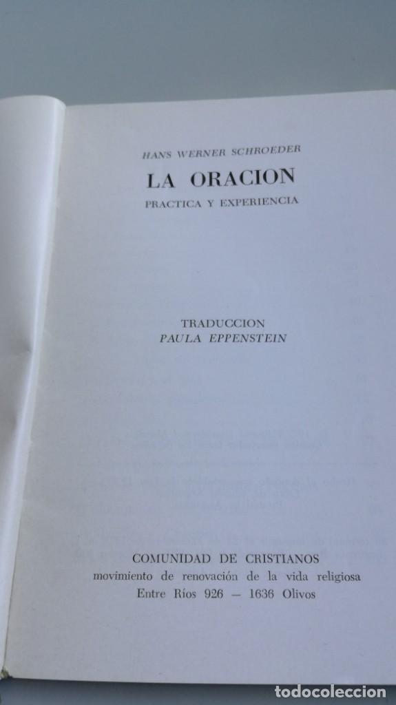 Libros de segunda mano: LA ORACION / HANS WERNER / F305 - Foto 3 - 171694294