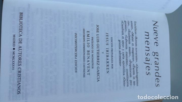 Libros de segunda mano: 9 GRANDES MENSAJES/ JESUS IRIBARREN JOSE LUIS GUTIERREZ / F305 - Foto 6 - 171694493