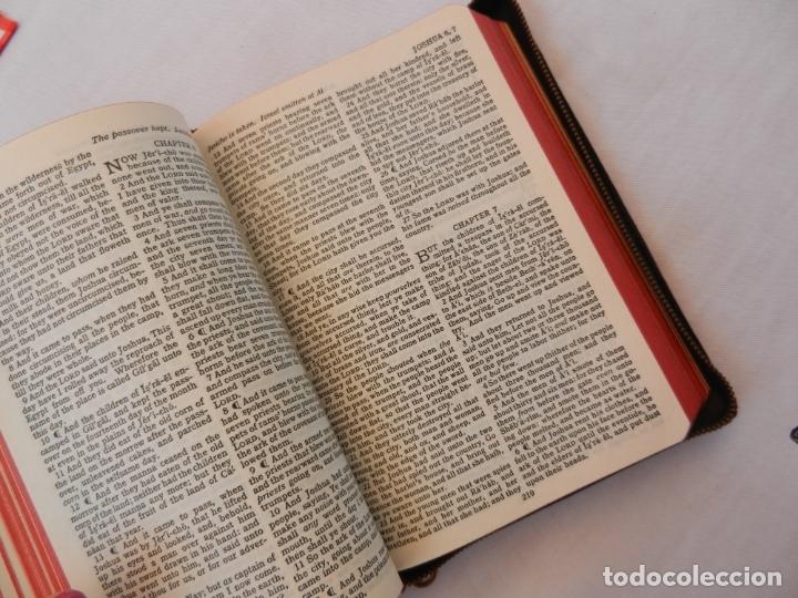 Libros de segunda mano: HOLY BIBLE - AMERICAN BIBLE SOCIETY NEW YORK 1955 - PORTADAS DE PIEL CON CREMALLERA VER DESCRIPCIÓN. - Foto 3 - 171702457
