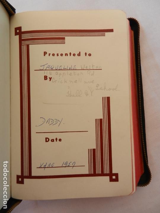 Libros de segunda mano: HOLY BIBLE - AMERICAN BIBLE SOCIETY NEW YORK 1955 - PORTADAS DE PIEL CON CREMALLERA VER DESCRIPCIÓN. - Foto 4 - 171702457