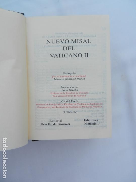 Libros de segunda mano: NUEVO MISAL DEL VATICANO II - ED. DESCLÉE DE BROUWER. ED. MENSAJERO - BILBAO 2000. - Foto 2 - 171703352