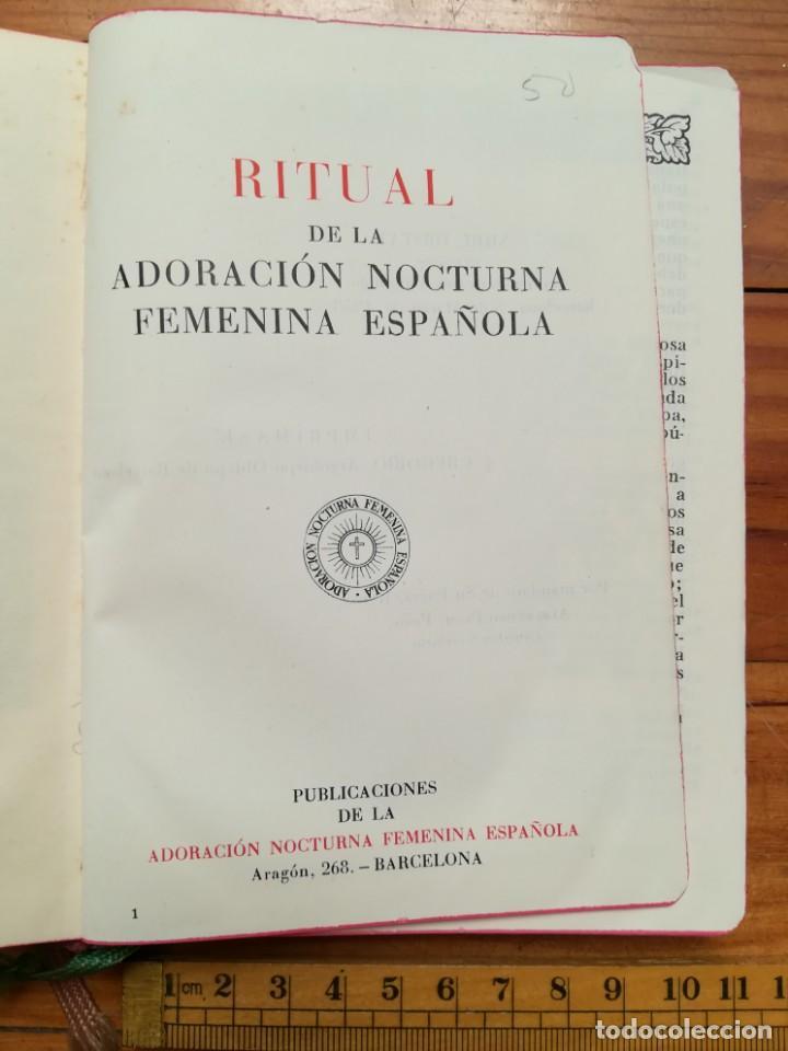 RITUAL DE LA ADORACIÓN NOCTURNA FEMENINA 1958 (Libros de Segunda Mano - Religión)