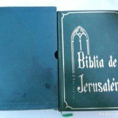 Libros de segunda mano: BIBLIA DE JERUSALÉN - ED. DESCLEE BROUWER BILBAO 1975 - ED. ALFREDO ORTELLS VALENCIA. . Lote 171707514