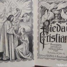 Libros de segunda mano: PIEDAD CRISTIANA. DEVOCIONARIO. P.JESUS QUIBUS.. Lote 172595227