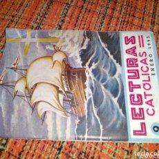 Libros de segunda mano: LECTURAS CATÓLICAS ENERO 1953. Lote 173447859