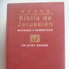 Libros de segunda mano: ENORME LIBRO : BIBLIA DE JERUSALEN , REVISADA Y AUMENTADA EN LETRA GRANDE. 1998. Lote 173588403