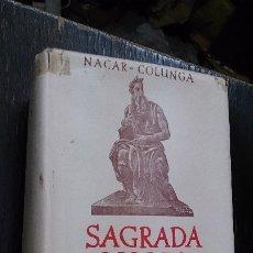 Libros de segunda mano: SAGRADA BIBLIA. NACAR-COLUNGA. BAC. BIBLIOTECA DE AUTORES CRISTIANOS. MADRID, 1949. Lote 173655942