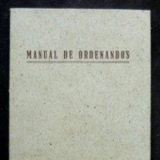 Libros de segunda mano: 1942 - MANUAL DE ORDENANDOS (ENCHIDIRION ORDINANDORUM). ORDENES MAYORES - LATÍN / CASTELLANO. Lote 173674579