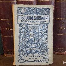 Libros de segunda mano: HISTORIA SAGRADA ANTIGUO Y NUEVO TESTAMENTO.TERCER GRADO.EDICIONES BRUÑO.LA INSTRUCCION POPULAR. Lote 174185650