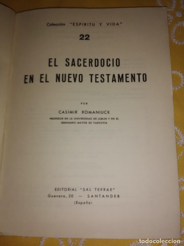 Libros de segunda mano: El sacerdocio en el Nuevo Testamento. Romaniuck. Sal Terrae. 1969. - Foto 2 - 174194303