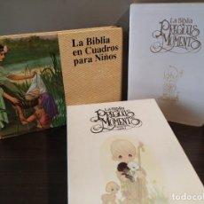 Libros de segunda mano: LA BIBLIA PREGIOUS MOMENTS Y LA BIBLIA EN CUADROS PARA NIÑOS. Lote 174205799