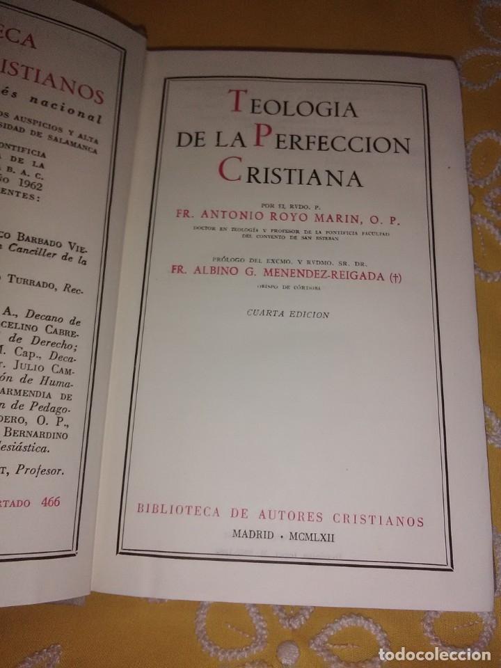 Libros de segunda mano: Teología de la Perfección Cristiana. A. Royo Marín. BAC nº 114. 4ª Ed. 1962. - Foto 2 - 174265943