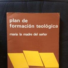 Libros de segunda mano: PLAN DE FORMACIÓN TEOLÓGICA MARÍA LA MADRE DEL SEÑOR-AGUSTÍN GARCÍA GASCO. Lote 175148692
