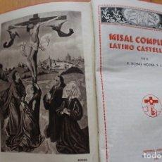 Livres d'occasion: MISAL COMPLETO LATINO CASTELLANO. Lote 176033643