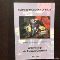 Libros de segunda mano: CURSO DE INICIACIÓN A LA BIBLIA. TERCERA PARTE: LOS LIBROS HISTÓRICOS. Lote 176229347