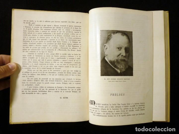 Libros de segunda mano: ESTAMPAS VERÓNICO LEVANTINAS. GONZALO VIDAL TUR, CRONISTA. GRÁFICAS GÚTENBERG, ALICANTE, 1945 - Foto 4 - 176322228