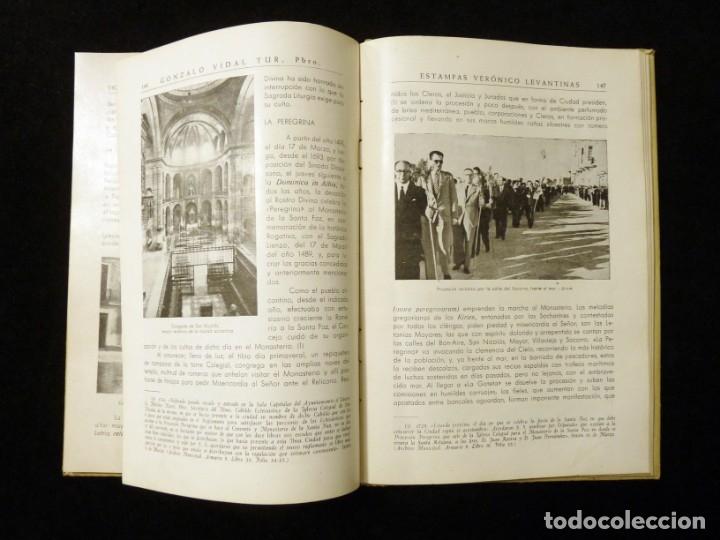 Libros de segunda mano: ESTAMPAS VERÓNICO LEVANTINAS. GONZALO VIDAL TUR, CRONISTA. GRÁFICAS GÚTENBERG, ALICANTE, 1945 - Foto 5 - 176322228