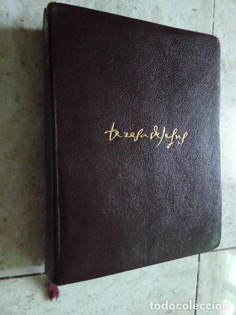 Libros de segunda mano: SANTA TERESA DE JESUS. OBRAS COMPLETAS. AGUILAR, 1957. PLENA PIEL. 8ª ED. - Foto 2 - 176639962