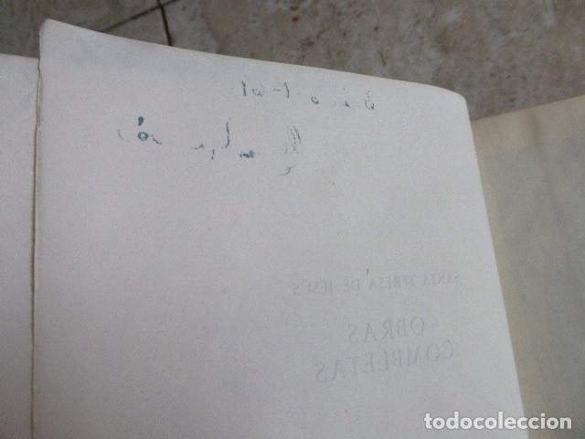 Libros de segunda mano: SANTA TERESA DE JESUS. OBRAS COMPLETAS. AGUILAR, 1957. PLENA PIEL. 8ª ED. - Foto 5 - 176639962