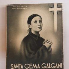 Libros de segunda mano: SANTA GEMA GALGANI - TDK108. Lote 176916560