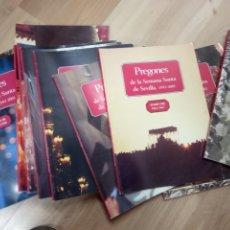 Libros de segunda mano: PREGONES DE LA SEMANA SANTA DE SEVILLA 1943-2001, 16 TOMOS. Lote 176976222