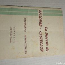 Libros de segunda mano: LA DIÓCESIS DE SEGORBE. Lote 177012249
